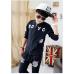 CO0184 ชุดวอร์มเด็กผู้ชาย เด็กโต เสื้อคลุมกันหนาวแขนยาวซิปหน้า ลายเสือ+ กางเกงวอร์ม สีดำ (2ชิ้น)
