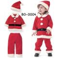 BO0004 ชุดซานตาครอสเด็กผู้ชาย แขนยาว กางเกงขายาว พร้อมหมวก ต้อนรับคริสมาสต์นี้ (3ชิ้น)