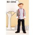 bo0046 ชุดเด็กออกงาน เสื้อเชิ๊ต เสื้อคลุม แขนยาว และกางเกงยีนส์ (3ชิ้น)