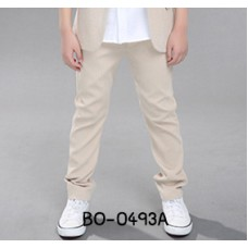 BO0493A กางเกงขายาวเด็กผู้ชาย เด็กโต สีน้ำตาลทอง S.130