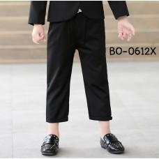 BO0612X << สินค้ามีตำหนิ >> กางเกงสแล็คเด็กผู้ชาย สีดำ S.130