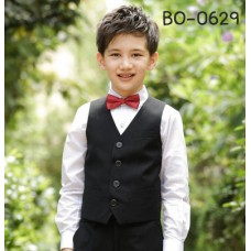 BO0629 เสื้อกั๊กเด็กผู้ชายสีดำ