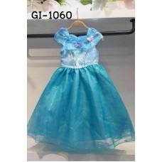 GI1060 ชุดเดรสเด็กผู้หญิงแฟนซี เจ้าหญิงซินเดอเรลล่า Cinderella แต่งผีเสื้อ สีฟ้า S.140/150
