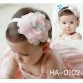 HA0102 ผ้าคาดผมเด็กผู้หญิง ติดดอกคาร์มีเลียดอกใหญ่ (เลือกสี)