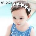 HA0103 ผ้าคาดผมเด็กผู้หญิง ลายดาวเรียงกัน (เลือกสี)