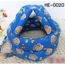HE0020 หมวกกันน็อคเด็ก หมวกกันกระแทกเด็ก สีน้ำเงินลายลิง (45-60cm)