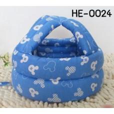 HE0024 หมวกกันน็อคเด็ก หมวกกันกระแทกเด็ก สีฟ้าลายมิกกี้เมาส์ตัว M (45-60cm)