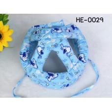 HE0029 หมวกกันน็อคเด็ก หมวกกันกระแทกเด็ก สีฟ้าลายสุนัข Bow Wow (40-53cm)