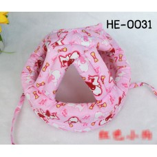 HE0031 หมวกกันน็อคเด็ก หมวกกันกระแทกเด็ก สีชมพูลายสุนัข Bow Wow (40-53cm)