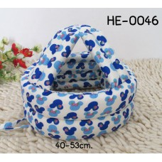 HE0046 หมวกกันน๊อคเด็ก หมวกกันกระแทกเด็ก สีครีมลายมิกกี้ฟ้าน้ำเงิน (40-53cm)