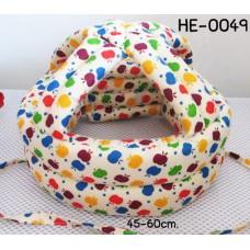 HE0049 หมวกกันน็อคเด็ก หมวกกันกระแทกเด็ก สีไข่ลายแอ๊ปเปิ้ลหลากสี (45-60cm)