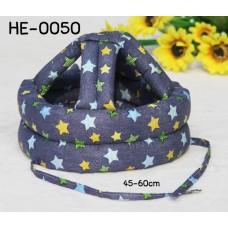 HE0050 หมวกกันน็อคเด็ก หมวกกันกระแทกเด็ก สียีนส์ลายดาว (45-60cm)