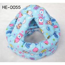 HE0055 หมวกกันน็อคเด็ก หมวกกันกระแทกเด็ก สีฟ้าลายลูกกวาด (45-60cm)
