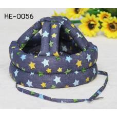 HE0056 หมวกกันน็อคเด็ก หมวกกันกระแทกเด็ก สียีนส์ลายดาว (40-53cm)