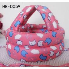 HE0059 หมวกกันน็อคเด็ก หมวกกันกระแทกเด็ก สีโอรสลายปลาและแมว (45-60cm)