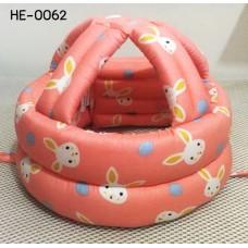 HE0062 หมวกกันน็อคเด็ก หมวกกันกระแทกเด็ก สีโอรสลายจุดและกระต่าย (40-53cm)