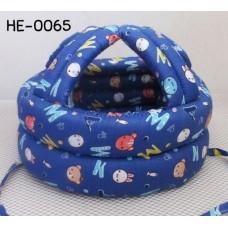 HE0065 หมวกกันน็อคเด็ก หมวกกันกระแทกเด็ก สีน้ำเงินลายตัวอักษรและสัตว์ต่างๆ (45-60cm)