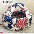 HE0067 หมวกกันน๊อคเด็ก หมวกกันกระแทกเด็ก สีขาวลายดาวธงชาติอเมริกา (40-53cm)