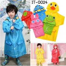IT0024 ชุดเสื้อกันฝนเด็ก Linda สีสันสดใส (เลือกสี)