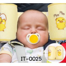 it0025 หมอนจัดท่านอน และปรับหัวเด็ก กันศรีษะแบน ลายลูกไก่ Piyo Piyo สีเหลือง