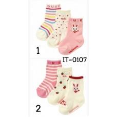 it0107 ถุงเท้ากันลื่น เด็กผู้หญิง Miki House แพ็ค 3 คู่ มี 2 แบบ