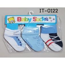 it0122-ชาย ถุงเท้าเด็กเล็ก 0-12 เดือน แพ็ค 3 คู่