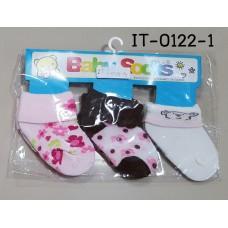 it0122-1 ถุงเท้าเด็กเล็ก 0-12 เดือน แพ็ค 3 คู่