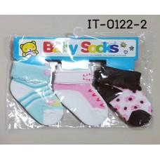 it0122-2 ถุงเท้าเด็กเล็ก 0-12 เดือน แพ็ค 3 คู่