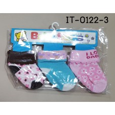 it0122-3 ถุงเท้าเด็กเล็ก 0-12 เดือน แพ็ค 3 คู่