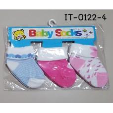 it0122-4 ถุงเท้าเด็กเล็ก 0-12 เดือน แพ็ค 3 คู่