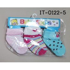 it0122-5 ถุงเท้าเด็กเล็ก 0-12 เดือน แพ็ค 3 คู่