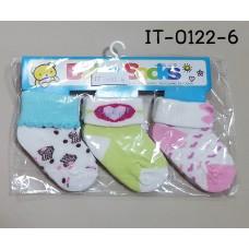 it0122-6 ถุงเท้าเด็กเล็ก 0-12 เดือน แพ็ค 3 คู่