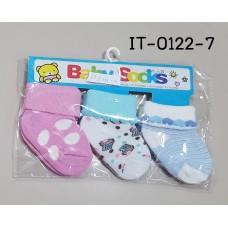 it0122-7 ถุงเท้าเด็กเล็ก 0-12 เดือน แพ็ค 3 คู่