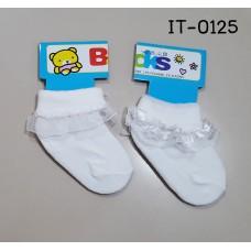 it0125 ถุงเท้าออกงานเด็กผู้หญิง 0-12 เดือน แพ็ค 1 คู่ (เลือกลาย)
