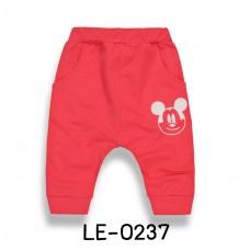 LE0237 กางเกงเด็กผู้ชาย CISI สกรีนหน้ามิกกี้เมาส์ สีแดง