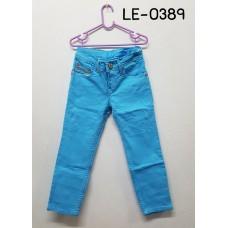 LE0389 กางเกงยีนส์ขายาวเด็กผู้ชาย ทรงขาเดฟ สีฟ้า