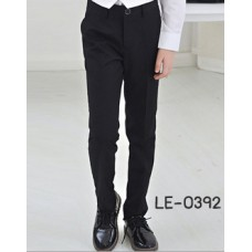 LE0392L กางเกงสแลคเด็กผู้ชายขายาวสีดำ S.110/120