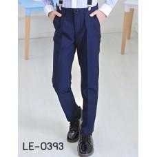 LE0393 กางเกงสแลคเด็กผู้ชายขายาวสีกรมท่า