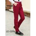 LE0394L กางเกงสแลคเด็กผู้ชายขายาวสีไวน์แดง