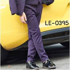 LE0395 กางเกงสแลคเด็กผู้ชายขายาวสีม่วงเข้ม