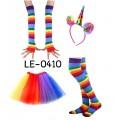 LE0410 ชุดเซ็ทแฟนซีปาร์ตี้สีรุ้ง 4 ชิ้น