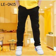 LE0415 กางเกงยีนส์เด็กสีดำ ขากระบอกเล็ก