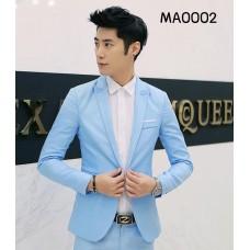 MA0002 เสื้อสูทผู้ใหญ่แขนยาวสีฟ้า