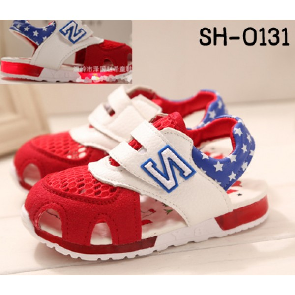 SH0131 รองเท้าเด็ก New Balance ผ้าใบพื้นยาง มีไฟที่พื้น