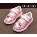 SH0188 รองเท้าพื้นยางเด็กผู้หญิง เชือกหลอกสายคาดเส้นเดียว ลายคิตตี้ (มีกล่อง)