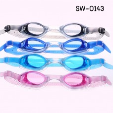 SW0143 แว่นตาว่ายน้ำเด็ก สีแดง