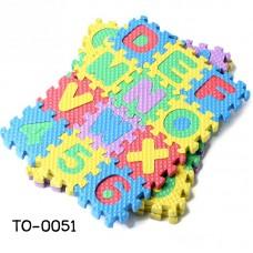 TO0051 จิ๊กซอโฟมเสริมพัฒนาการเด็ก a-z และตัวเลข 1-10