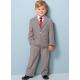 BO0599 ชุดสูทเด็กผู้ชาย ครบเซ็ท เสื้อสูทแขนยาว เสื้อเชิ๊ตสีขาวแขนยาว เนคไท์ และกางเกงขายาว สีกากี (4ชิ้น)