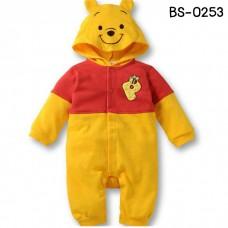 bs0253 ชุดบอดี้สูทแฟนชี หมีพูห์ แขนยาวขายาว สีเหลือง