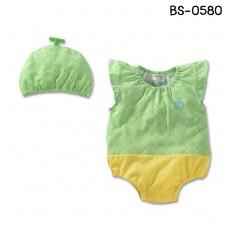 BS0580 ชุดบอดี้สูทเด็ก แฟนซีผลไม้ ลายเมล่อน พร้อมหมวก (2ชิ้น) S.95